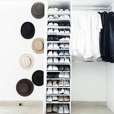 Can we have a moment for this hat collection. | 17 Ridiculously Organised Wardrobes That Are Goals AF