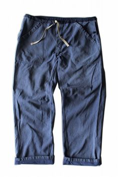 Swiss military remade denim pants/free size/blue cotton/1960s/wide pants/310