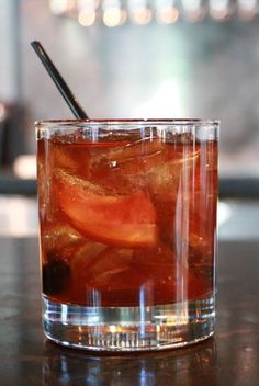 15 New Takes on the Old Fashioned Post Fashioned Brother_Credit Emily Richardson Bourbon Cocktails, Whiskey Drinks, Wine Drinks, Cocktail Drinks, Cocktail Recipes, Drink Recipes, Drinks With Bourbon, Alcoholic Drinks, Cocktail Videos