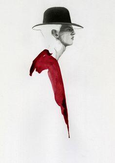 dior homme ; illustration by Richard Kilroy