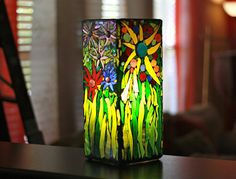 Mosaic Lamp Mosaic Stained Glass Lamp by MichelleLisaTreasure, $255.00