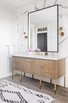 Dream Home, bathroom vanity lark & linen Home Interior, Bathroom Interior, Decor Interior Design, Interior Decorating, Bathroom Furniture, Decorating Tips, Modern Interior, Bad Inspiration, Bathroom Inspiration