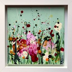 Meadow Blooms Red Carnation, Irish Landscape, Orange Sky, Irish Art, Acrylic Art, Large Art, Fine Art Gallery, Flower Vases, Yellow Flowers