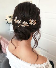 Beautiful updo Hairstyles For A Romantic Bride - Beautiful messy braids and updo. - - Beautiful updo Hairstyles For A Romantic Bride - Beautiful messy braids and updo hairstyle,Textured updo. Bridal Hair Updo, Wedding Hair And Makeup, Wedding Updo, Hair Makeup, Wedding Hijab, Boho Wedding, Prom Updo, Wedding Simple, Wedding Dresses