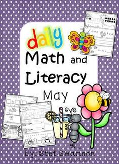 Daily Math and Literacy {May} Common Core 40 pages printed 2 sided (4 weeks) of May MORNING WORK or Nightly HOMEWORK! Quick independent Daily Math and Literacy mini review worksheets! Changing Phonemes, Rhyming, Squiggle Line Sentence Writing, Sight Words, Subtracting Pictures, Building Teen Numbers, 3-D Shapes and MORE!  dreambigkinders.blogspot.com