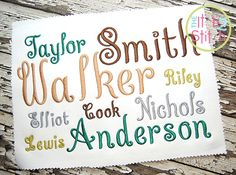 Curtsy Alphabet Embroidery Font HAVE