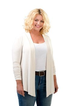 The Lola Open Cardigan Sweater in French Vanilla. A fall must have.Sizes 12/14 and 16/18. Made in USA. On Sale Now at www.charlieagogo.com