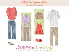 What to wear guide for family photos