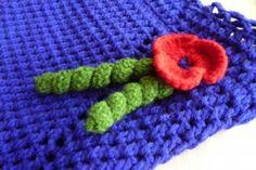 crochet twirl on bag