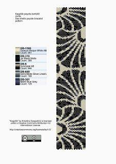 KIKI GYÖNGYEI: Kagylók peyote karkötő minta - pattern