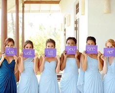 Different color for the maid of honor is a good idea