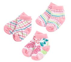 Baby Socks 3 Pair 0-12M in Lola, $19.00 | Vera Bradley