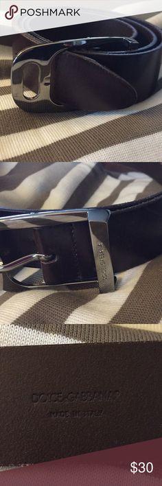 Dolce & Gabbana belt sz34 Sz 34 never used NWOT leather belt Accessories Belts