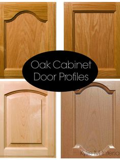 Ideas to update oak cabinets with cathedral or flat top door profile