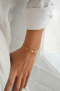 Gold bracelet elegant 24k gold plated chain bridesmaids by zahav #GoldBracelets