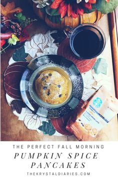 The most delicious pumpkin spice pancake recipe that pairs up perfectly with Starbucks Pumpkin Spice Coffee at home. #savorpumpkinseason #ad - The Krystal Diaries