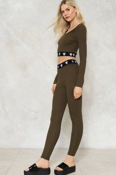 Cora Ribbed Crop Top and Leggings Set c791969fb