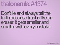 better to be straight up honest and deal with the consequences than to be caught lying and never trusted again.