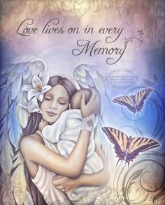 LOVE lives ON Remembrance SIDS sympathy by TheVictorianGarden, $10.00