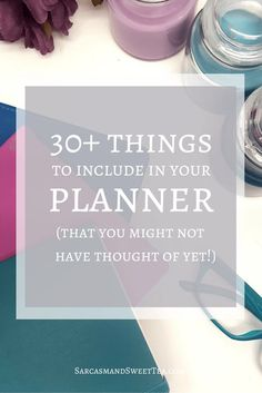 Here's a fun roundup of 30+ Things to Include in Your Planner  - you can choose whichever of these suit you!