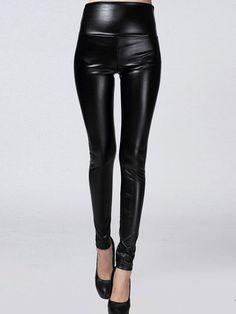 PU Leather Soft Womans Leggings