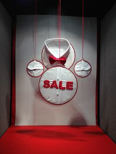 Had to create a 'Sale' display only using the colours red and white!