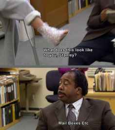 The Injury - The Office I love how Stanley said this!