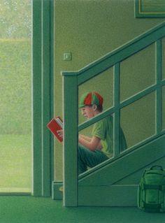 Pinzellades al món: En el país de los libros: llibre de Quint Buchholz sobre els llibres, la lectura i els lectors