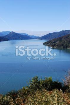 Kenepuru Sound, Marlborough Sounds Royalty Free Stock Photo
