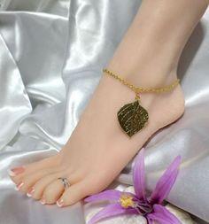 Gold Leaf Chain Anklet Ankle Bracelet Gypsy Beach Foot Jewelry #Chain http://www.ebay.com/itm/111296148151?ssPageName=STRK:MESELX:IT&_trksid=p3984.m1555.l2649