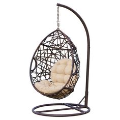You'll love the Auxerre Tear Drop Swinging Chair with Cushion and Stand at Wayfair - Great Deals on all Outdoor products with Free Shipping on most stuff, even the big stuff.