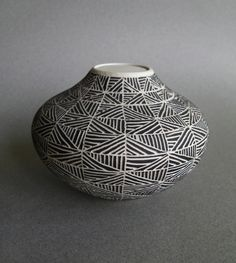 Vase with African style design