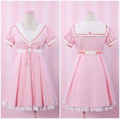 """Free shipping worldwide! Materai: made of cotton. Color: Pink Size reference: Size S: Length: 82cm/32.28""""; Shoulder length:34-37cm/13.39-14.57""""; Sleeve legnth: 15.5cm/6.1""""; Bust: 80-86cm/31.5-33.86""""; Waist: 64-70cm/25.2-27.56""""; Size M: Length: 84cm/33.07"""" ; Shoulder length:..."""