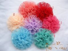 Colors Mixed Tutu Handmade Flowers.