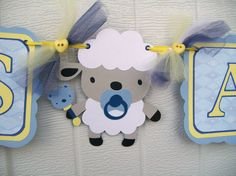 Super cute sheep, maybe baby boy shower