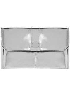 Dorothy Perkins.  silver + clutch + modern touch