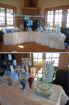 Baptism Party Decorations | Baptism Christening 1st Communion Boy Party Decor ... | Preston's Bap ...