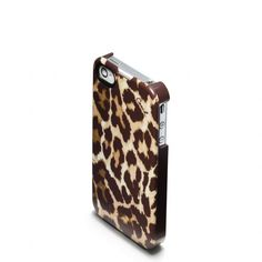 Coach :: Ocelot Iphone 4 Case. If I still had the 4, I'd be all over this! Lepoard print AND Coach?!