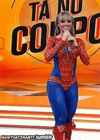 Spider man is no longer the only man that can shoot white webs – GIF