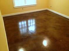 Stained cement floors (good idea for a basement on budget).  Would have to look up diy version if I need to do this.
