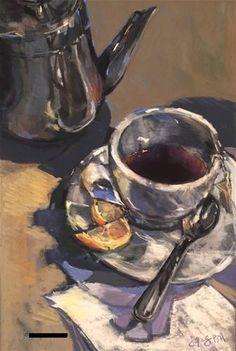 "Daily Paintworks - ""Taking a Break 2"" - Original Fine Art for Sale - © jeri greenberg"