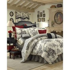 August Grove Spiritwood Lake Comforter Set | Birch Lane French Cottage, French Country House, Modern Country, French Decor, French Country Decorating, French Country Bedrooms, Country Bathrooms, Country Kitchen, Tuscan Design