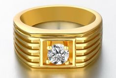 Buy Designer & Fashionable Simple Ring For Men. We have a wide range of traditional, modern and handmade Bands Mens Rings Online Mens Ring Designs, Gold Ring Designs, Gold Earrings Designs, Mens Gold Jewelry, Gold Rings Jewelry, Silver Rings, Diamond Jewelry, Jewellery, Silver Bracelets