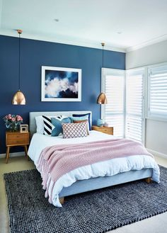 Obsessed with this bedroom by #IDIstudent Lily Rose Interiors!