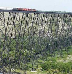 The Lethbridge Viaduct, commonly known as the High Level Bridge, was constructed between 1907–1909 at Lethbridge, Alberta, Canada at a cost of $1,334,525.