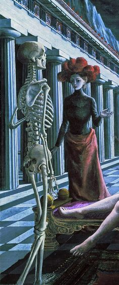 "Detalle de La Venus dormida, de Paul Delvaux 1944 Used by Bauhaus for the sleeve of their single ""Dark Entries""."