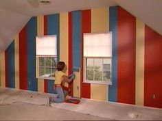 striped wall paint designs | How To Paint Stripes on a Wall : How-To : DIY Network