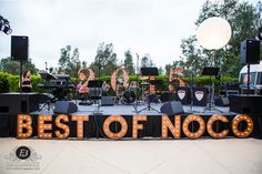 San Diego Magazine's 2015 Best of North County Party at Park Hyatt Aviara, Carlsbad, CA. 2015 BEST OF NOCO marquees by My Marquee SD. Photo by E3 Photography.