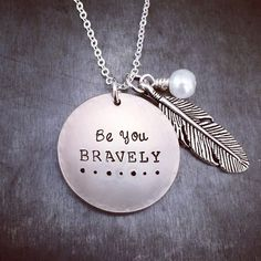 stamped brave necklace by TuTuCuteStamped on Etsy