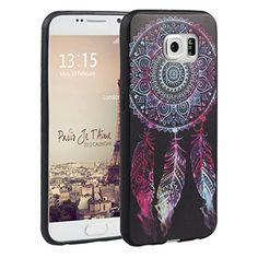 Galaxy S6 Hülle, Asnlove TPU Handy Schutzhülle für Samsung Galaxy S6 Silikon Weich Handytasche Traumfänger Tasche Schutz Cover